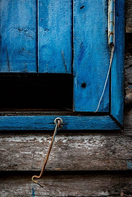 Blue Shutter, Photo Walk #90, Rim Klong Ratchamontri