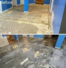 Metallic Marble Epoxy Basement- Speakman Coatings- Blue Springs, MO