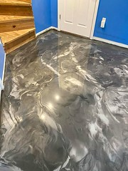 Metallic Marble Epoxy Basement Flooring- Speakman Coatings- Blue Springs, MO
