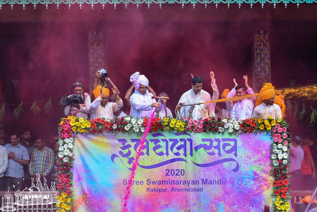 Fuldol Utsav Celebrations at Kalupur Mandir
