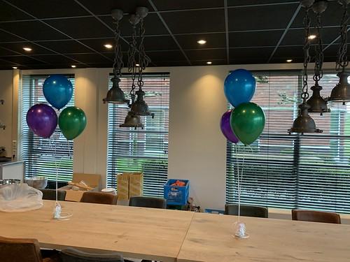 Tafeldecoratie 3ballonnen MSA Group Barendrecht