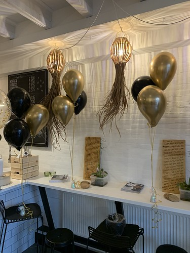 Tafeldecoratie 3ballonnen Katoen en Koffie Brielle