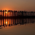 Silhouttes on the U Bein Bridge by John Russell