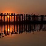 Silhouttes on the U Bein Bridge by John Russell