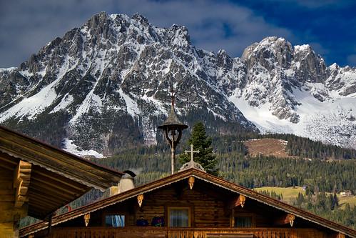 The Wilder Kaiser seen from Ellmau, Tyrol