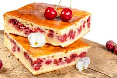 Sweet homemade cherry pie, close up