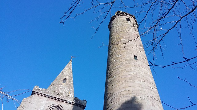 The Round Tower, Brechin Cathedral, Brechin, Feb 2020