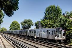 US NY NYC Subway - R-160B 9448 on Q (Brighton) at Avenue U