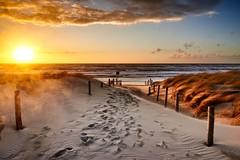 Zuidelijke strandopgang van Petten
