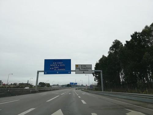 A41 - saída Nogueira da Regedoura