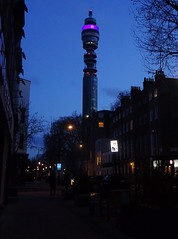BT Tower from Fitzroy Street