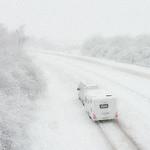 Battling Through the Snow by Martin Parratt