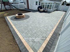 Cambridge Paver Patio with Firepit, Levittown, NY 11756