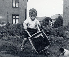 Keeping busy, about 1956