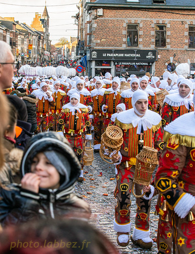 Gilles mardi gras à Binche en Belgique