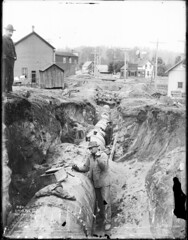 Cedar River Pipeline under construction, 1900