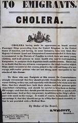 Cholera warning poster CO 384/92