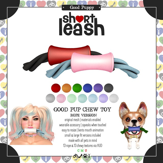 .:Short Leash:. Good Pup Chew Toy - Rope Version