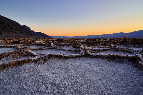 Sunset at Badwater Basin - Death Valley, California