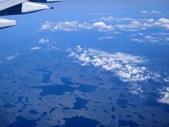 Canadian landscape from a transatlantic flight