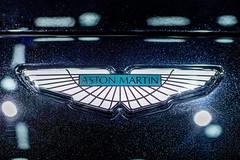 Aston Martin company logo on a car