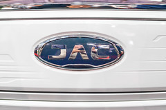 JAC Motors company logo on a car