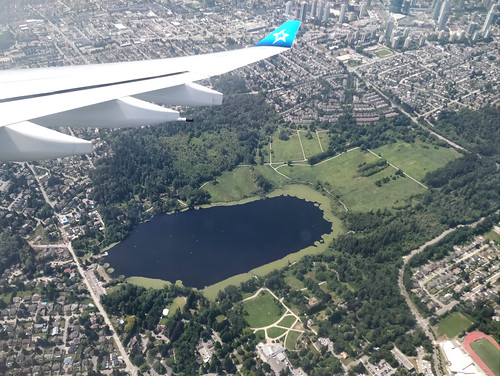 Deer Lake Park from a plane