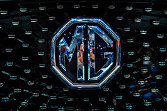 MG company logo on a car