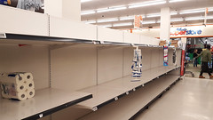 Halifax, Canada - Empty shelves with no toilet paper