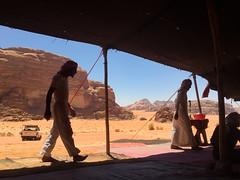 Jordan, Wadi Rum - Bedouin tent with view - July 2017