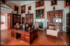 The Library, Kedleston Hall, Debyshire.