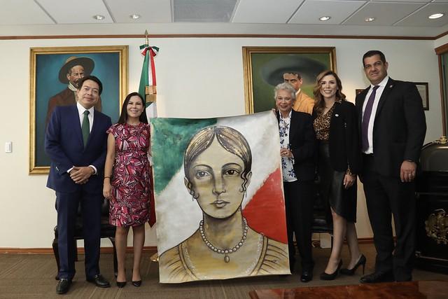 05/03/2020 Reunión de la Secretaria de Gobernación, Olga Sánchez Cordero; el Coordinador Mario Delgado y la Presidenta de la MEsa Directiva de la Cámara de Diputados, Laura Rojas