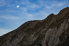 Moon over the Cañón de La Huasteca - Monterrey Mexico