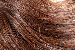 Healthy long dark hair background, close- up