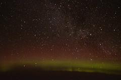Aurora with Milky Way