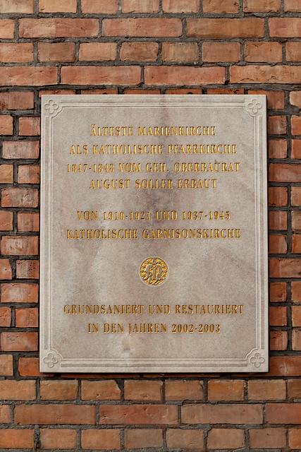 An der Kirche St. Marien in Spandau