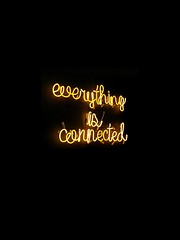 Everything is connected neon light signage - Credit to https://homegets.com/