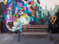 Mural And Bench