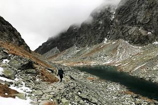 Follow the stony trail towards Sliezsky dom (1670m).