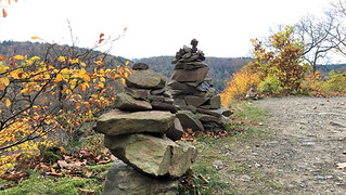 Cairns at the path