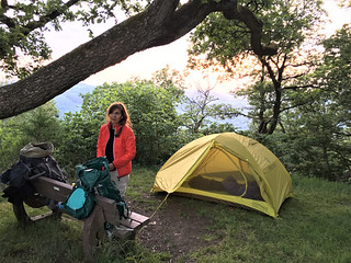 Wild camping opposite the Boursheid Castle