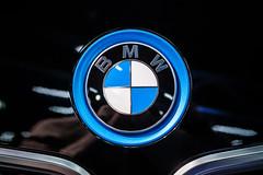 Close-up of BMW logo