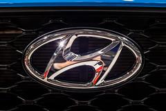 Hyundai logo close-up