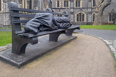 THE HOMELESS JESUS SCULPTURE BY TIM SCHMALZ [CHRIST CHURCH CATHEDRAL IN DUBLIN]-160630