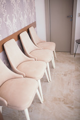 Chairs in ophtamologic clinic.