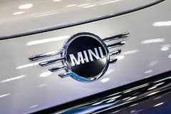 Mini logo close-up