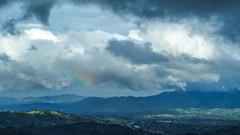 Cumulus and rainbow over Contra Costa
