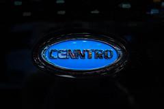 Cenntro company logo on a car close-up