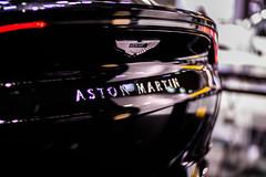 Aston Martin logo on a car close-up