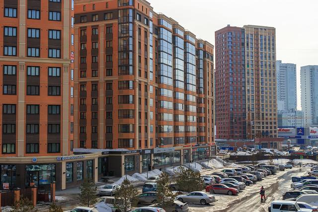 Modern architecture of Novosibirsk city